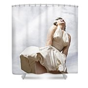 Marilyn Monroe Statue Shower Curtain