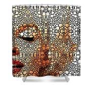 Marilyn Monroe - Stone Rock'd Art Painting Shower Curtain