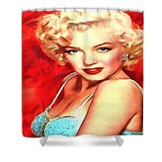 Marilyn Monroe Tribute In Red Shower Curtain