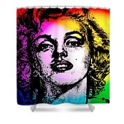 Marilyn Monroe Under Spotlights Shower Curtain