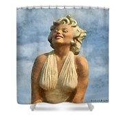 Marilyn Monroe Watercolor Shower Curtain