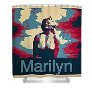 Marilyn Poster Shower Curtain