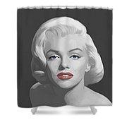 Marilyn Trio Red Lips Blue Eyes Shower Curtain