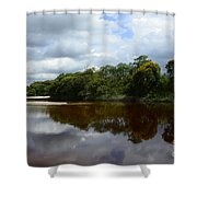 Marimbus River Brazil Reflections 4 Shower Curtain