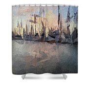 Marina Abstraction  Shower Curtain