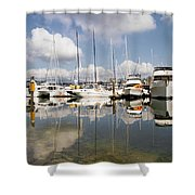 Marina At Granville Island Vancouver Bc Shower Curtain
