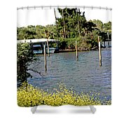 Marina At Miners Slough Shower Curtain