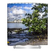 Marina At The Inlet Shower Curtain