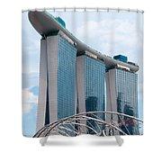 Marina Bay Sands Hotel 01 Shower Curtain