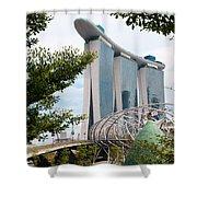 Marina Bay Sands Hotel 02 Shower Curtain
