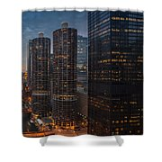 Marina City And A M A Plaza Chicago Shower Curtain