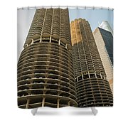 Marina City Chicago Shower Curtain