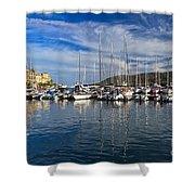 marina in Porto Azzurro Shower Curtain