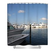 Marina Key West - Harbored Fun Shower Curtain