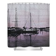 Marina Reflections Shower Curtain