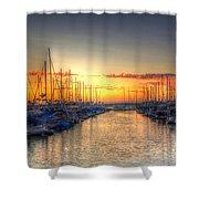 Marina Summer Sunset Shower Curtain