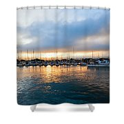 Marina Sunrise 1 Shower Curtain by Jim Thompson