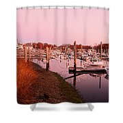 Marina Sunrise Shower Curtain
