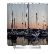 Marina Sunset Afterglow Shower Curtain