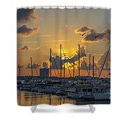 Marina Sunset Shower Curtain