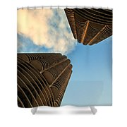Marina Towers Shower Curtain