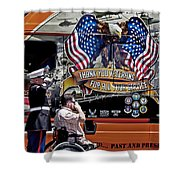 Marine And Wounded Warrior Shower Curtain
