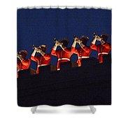Marine Band At Night Shower Curtain