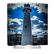 Marine City Michigan Lighthouse Shower Curtain