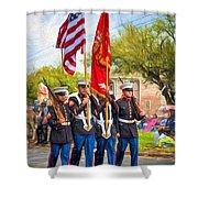 Marine Color Guard - Paint Shower Curtain