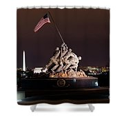 Marine Corps War Memorial Shower Curtain