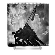 Marine Corps War Memorial Shower Curtain