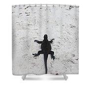 Marine Iguanas Galapagos Shower Curtain