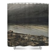 Marine Terrace In Jersey Shower Curtain by Victor Hugo