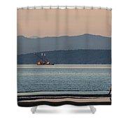 Marine Traffic Shower Curtain