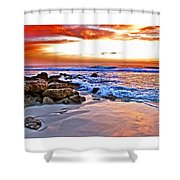 Marineland Sunrise Shower Curtain