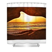 Marineland's Sunrise Dolphin Shower Curtain