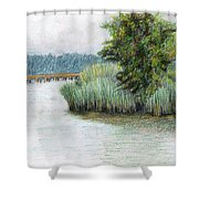 Mariner Point Park Shower Curtain