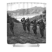 Marines Of The 5th Marine Regiment Shower Curtain
