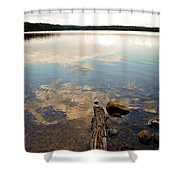 Marion Lake Reflections Shower Curtain