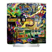 Marital Harmony 61 Shower Curtain