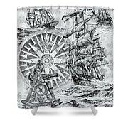 Maritime Heritage Shower Curtain