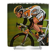 Mark Cavendish Shower Curtain by Paul Meijering