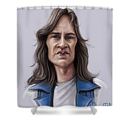 Mark Evans Shower Curtain