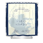 Mark Twain Patent Shower Curtain