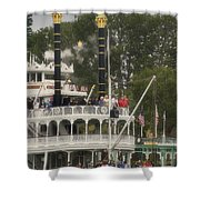 Mark Twain Riverboat Frontierland Disneyland Vertical Shower Curtain