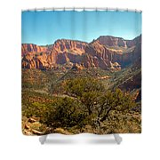 Markaqunt  Mesa In Kolob Shower Curtain