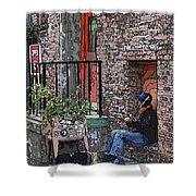 Market Busker 15 Shower Curtain