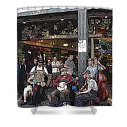 Market Buskers 3 Shower Curtain