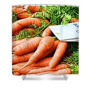 Market Carrots By Diana Sainz Shower Curtain