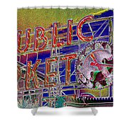 Market Clock 1 Shower Curtain